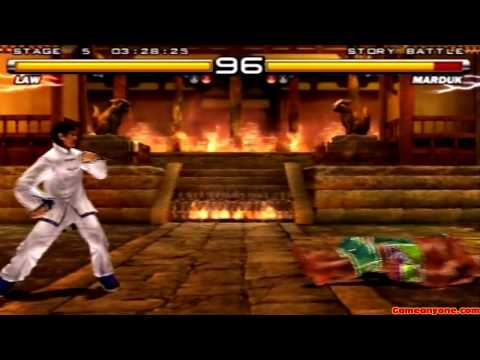 Tekken 5 - Story Battle - Law Playthrough video