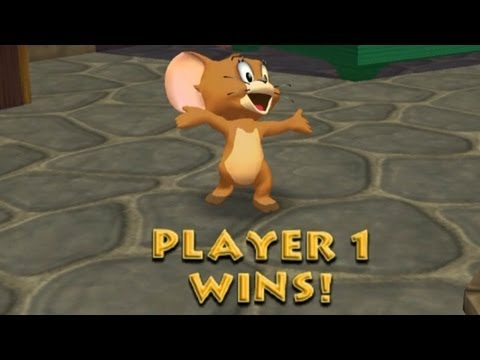 Tom & Jerry: War of the Whiskers - Gamecube Walkthrough HD 720P Part 2 - Jerry (Dolphin 4)