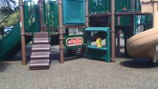 Playing at the park on the Kids Playground with Slides & Swings | kids learning videos