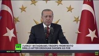 Turkey withdraws troops from Norway after Erdogan is listed as 'enemy' during NATO drills