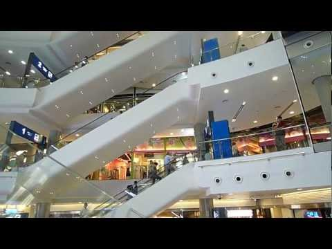 Terminal 21 Escalator view Shopping Center Bangkok Thailand - HD