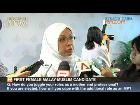 First female Malay-Muslim candidate