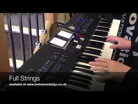 Roland BK9 Super Light Keyboard Demonstration - instruments2go