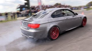 BRUTAL!! BMW M3 E92 w/ STRAIGHT PIPES - Revs, Acceleration, BURNOUT!