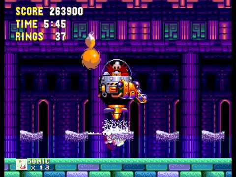 Sonic the Hedgehog 3 - Sega Genesis - supersonic vs. eggman on Zone 2 - User video