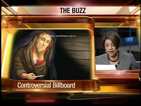 Virgin Mary billboard causes stir