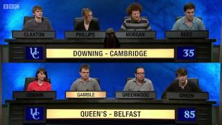 University Challenge S43E18 Downing, Cambridge vs Queen's Belfast
