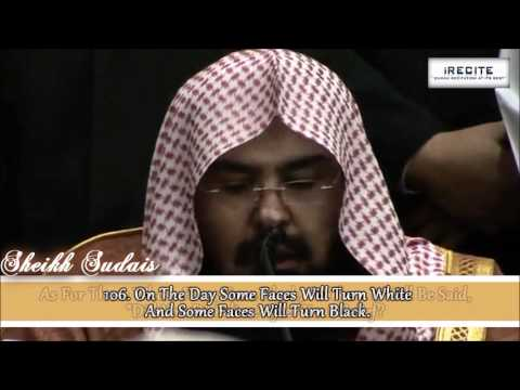 Sheikh Sudais (LIVE) - Surah Al Imran    Heart Warming Recitation    1080pᴴᴰ