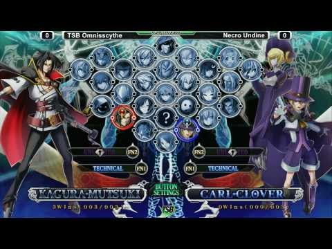 Blazblue: Chrono Phantasma  Tsb 2 15 2014 - Finals (f  Necro Undine, Omnisscythe, Braver) video
