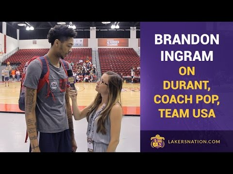 Brandon Ingram On Kevin Durant, Coach Popovich & Team USA