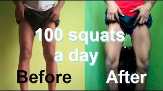 100 SQUAT A DAY FOR 30 DAYS CHALLENGE - [MY LEGS TRASFORMATION RESULTS]