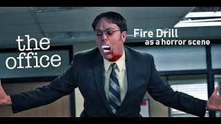 'The Office' Fire Drill as a horror scene | Dwight Schrute | Michael Scott |Fire Drill - horror |