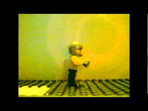lego man hit by jet engine