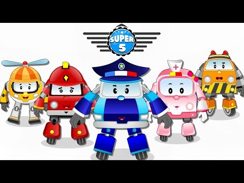 Super5 Squad Rescue Team on a Mission to Save Baby Car Luna | Kids Cartoon Rhymes Ep-01