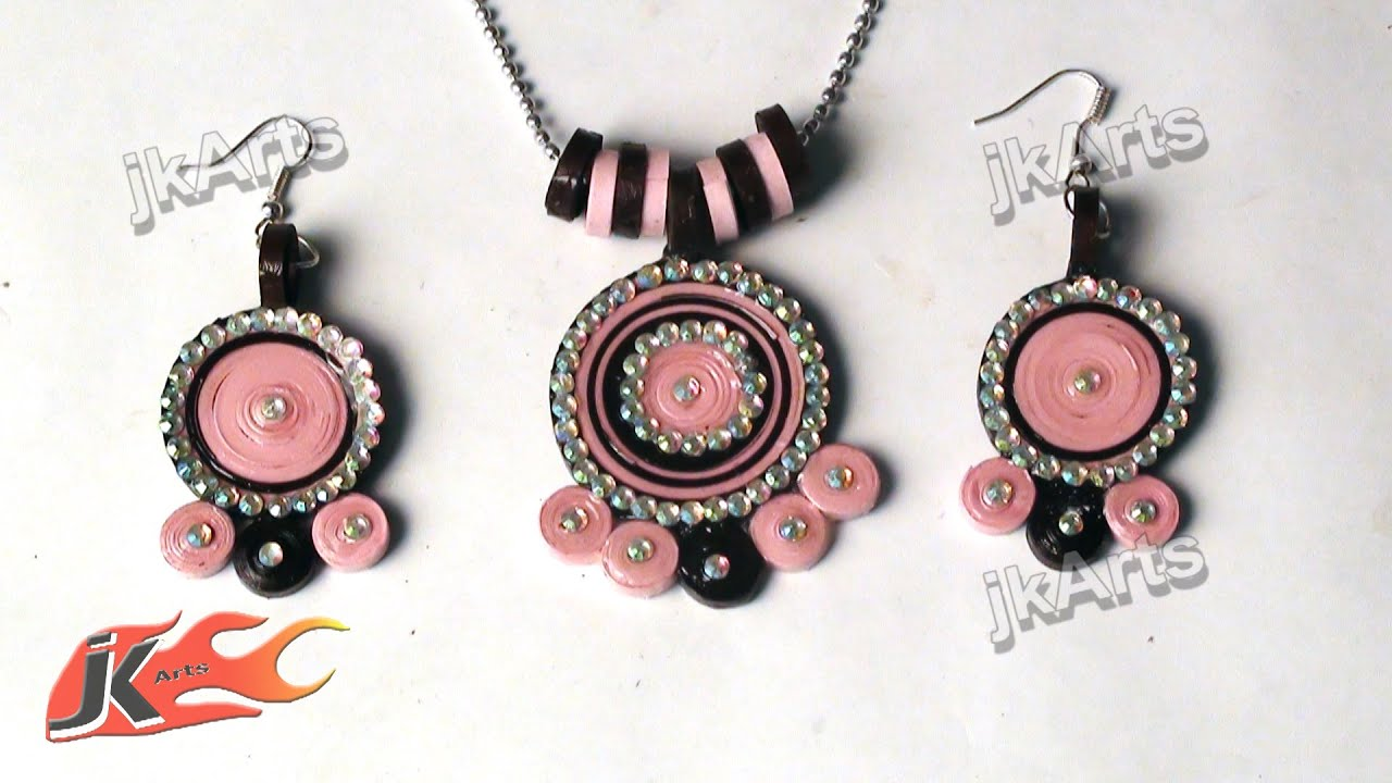 Make Quilling Jewelry Diy Paper Quilling Jewelry Set