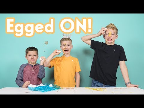 Gross Egged On Challenge!  WHEEL OF MISFORTUNE  Best 2017 Messy Contest  Kids React Funny