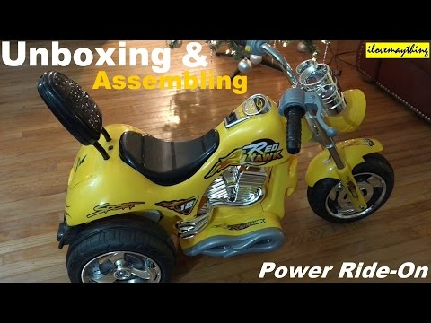 Awesome Toys: Power Ride-On Motorcycle for Kids Unboxing and Assembling