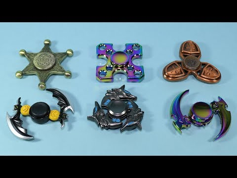 Very Interesting Fidget Spinners!!! Shield, Sheriff, Multicolor Spinner and More