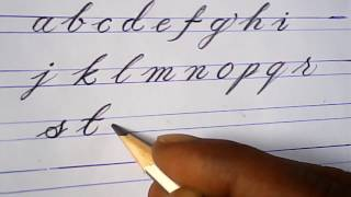 How to write english small letters   pencil writing tutorials   mazic writer