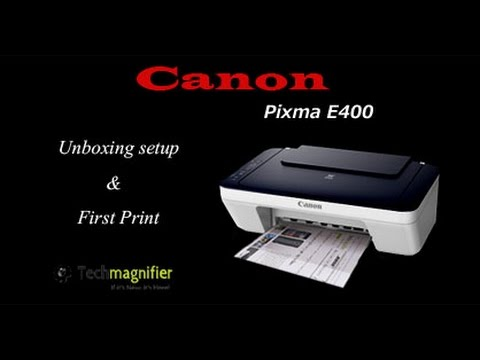 Canon Pixma E400 Unboxing Setup and First Print