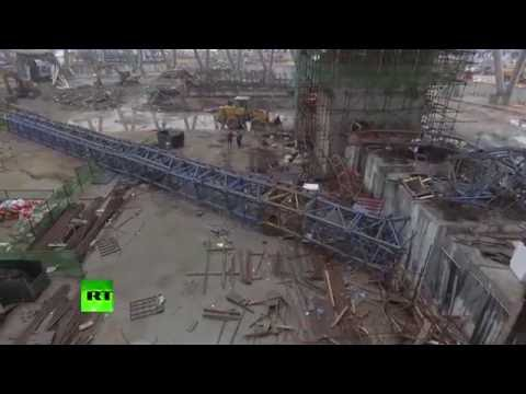 Aftermath of fatal Chinese power plant accident in aerial footage