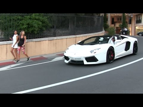 Lamborghini Aventador Roadster w/ iPE exhaust in Monaco | LOUD sound + Revs + Chickmagnet