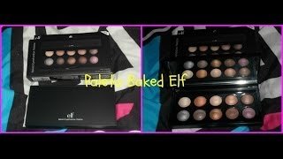 Sombras Elf reseña y swatches- Baked (California)