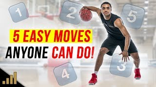 MARCH MADNESS - 5 Easy Basketball Scoring Moves ANYONE CAN DO! (Use these simple basketball moves!)
