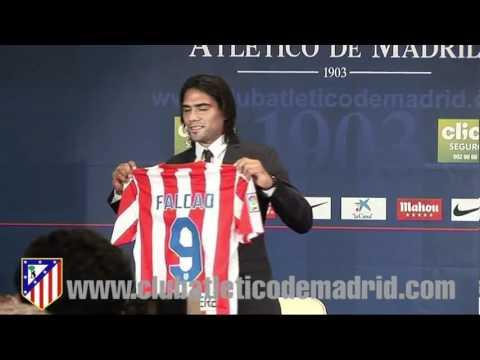 Presentación de Falcao como jugador del Atlético de Madrid