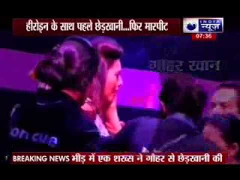 Actress Gauhar Khan slapped during 'India's Raw Star' shoot