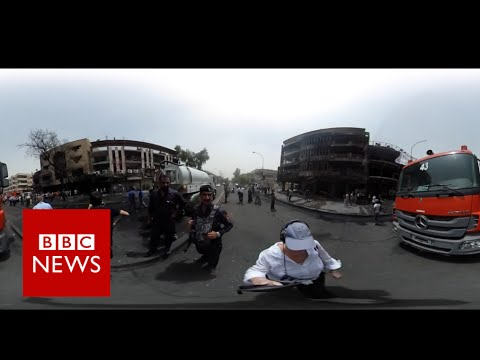 Aftermath of deadly IS bombing in Baghdad (360 video) BBC News