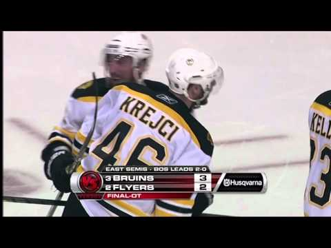 David Krejci's OT Winner - Bruins Vs. Flyers (video)