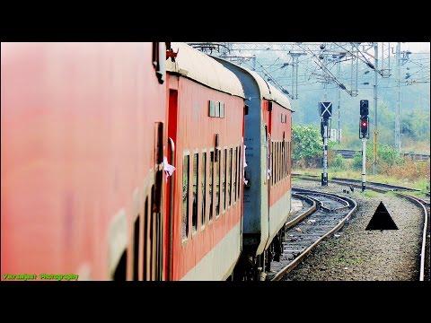 Bangalore Rajdhani Express : Full Journey Compilation Secundrabad - Ballarshah (Part 2)