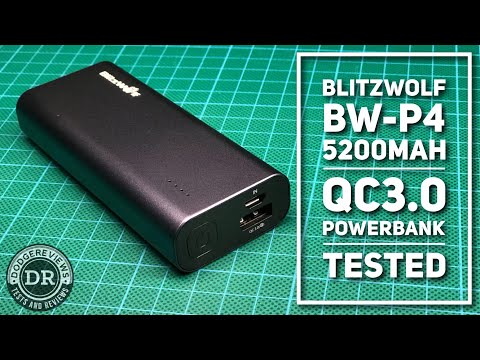 Dodgereviews - Unboxing & testing a BlitzWolf BW-P4 5200mAh QC3.0 powerbank