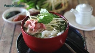 How to make pho bo (Vietnamese beef noodle soup)