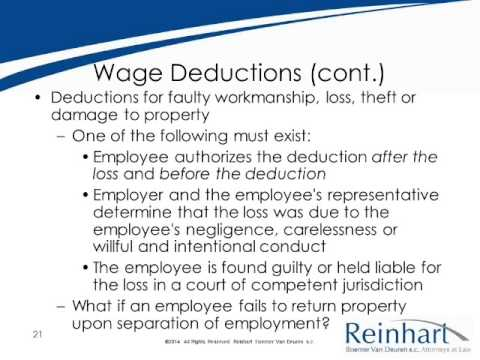 Wage and Hour Laws: Are You in Compliance - Session 2