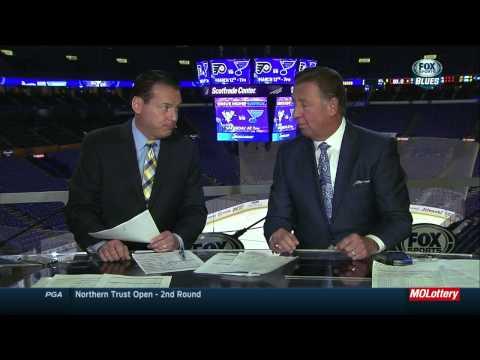 Jake Allen saves. Blues post game. Boston Bruins vs St. Louis Blues Feb 20 2015 NHL