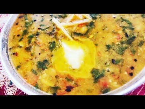 Dhaba Style Palak Dal/ऐसे बनाये ढाबे जैसी स्वादिस्ठ दाल पालक/Delicious spinach with lentils
