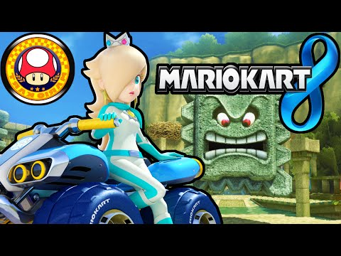 Mario kart 8 mushroom cup mirror rosalina new vehicle for Mirror gameplay walkthrough