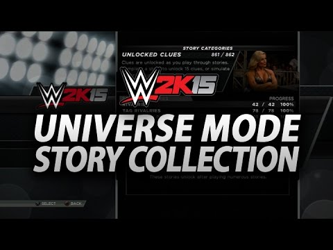 Wwe 2k15: Universe Story Collection Revealed, 862 Stories Available! (universe Mode Updates) video