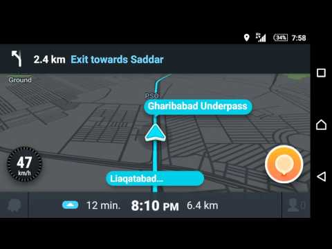 Waze navigation video Karachi - Pakistan