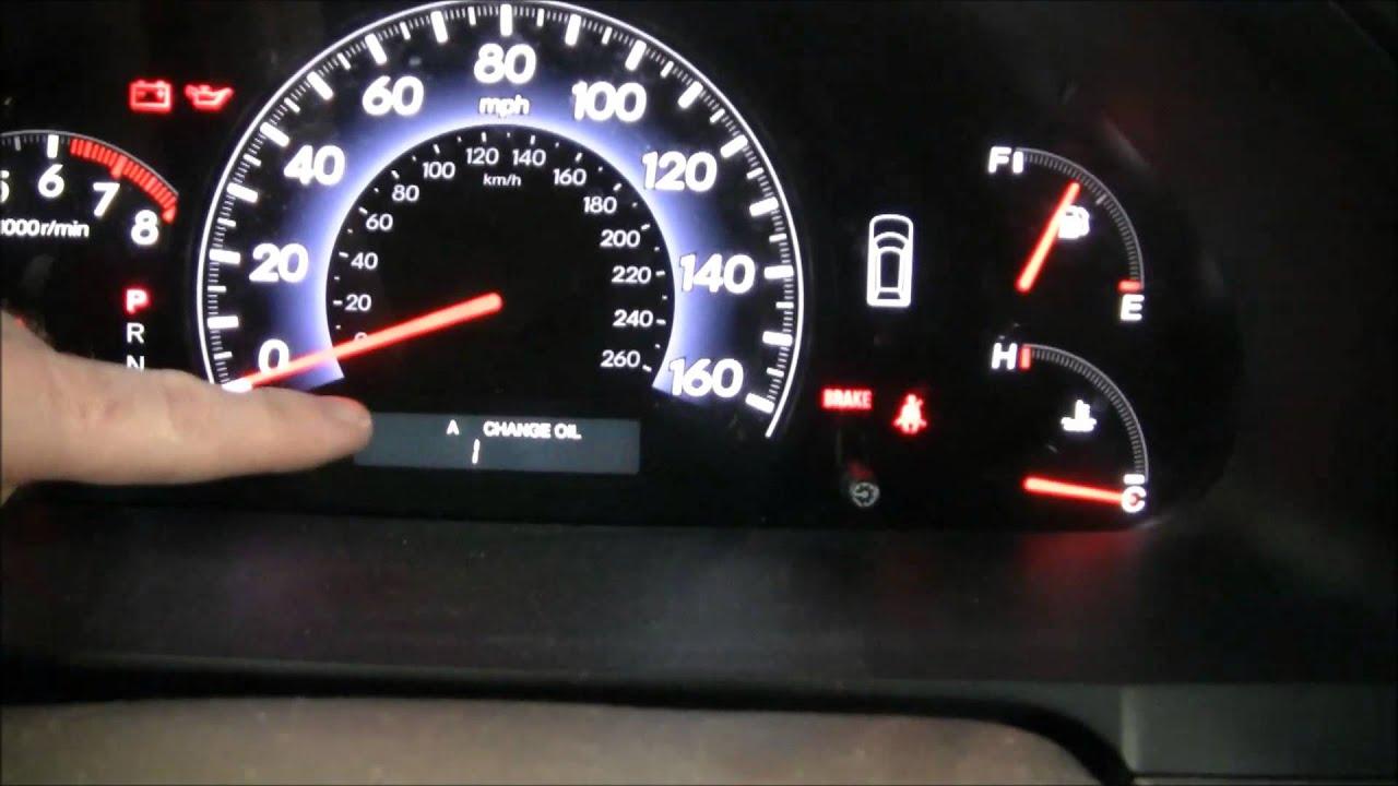How To Reset The Honda Odyssey Maintenance Light