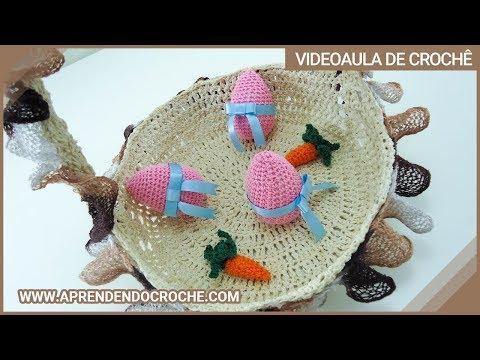 Cesta de Páscoa em Croche Delícias - Crochê Endurecido - 2º Parte Music Videos