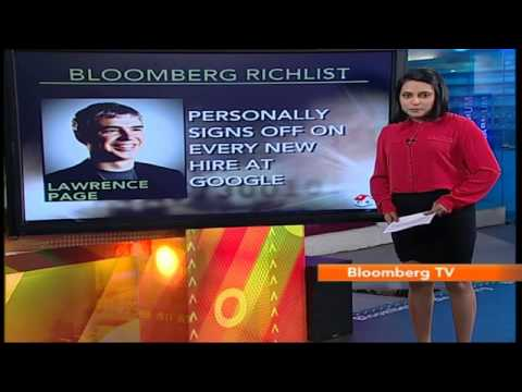 In Business: Bloomberg Rich List: Lawrence Page