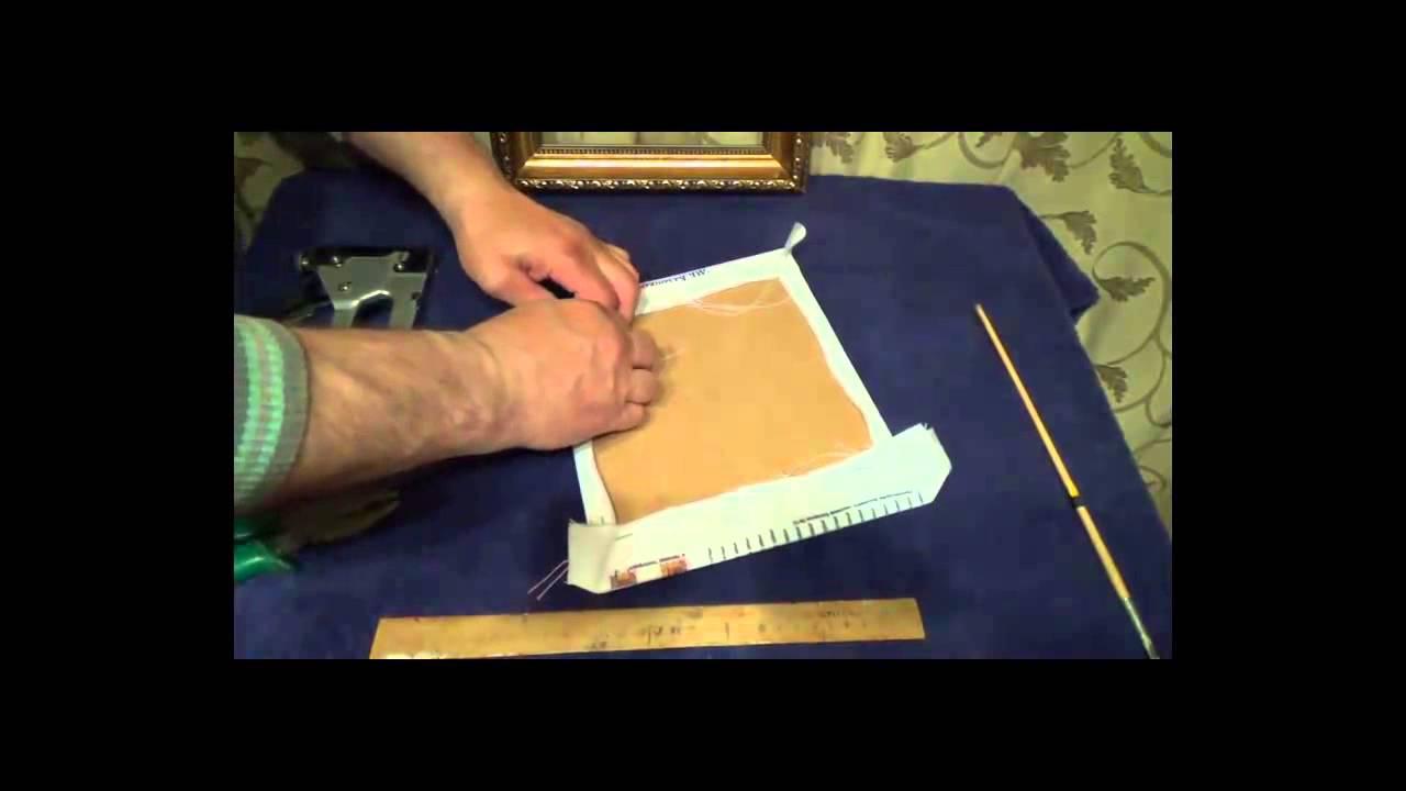 Как самостоятельно вставить вышивку в рамку 17