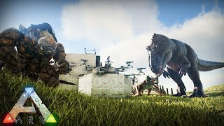 FOUNDATION WIPING THE ALPHA TRIBE!!  - Ark Survival Evolved PvP