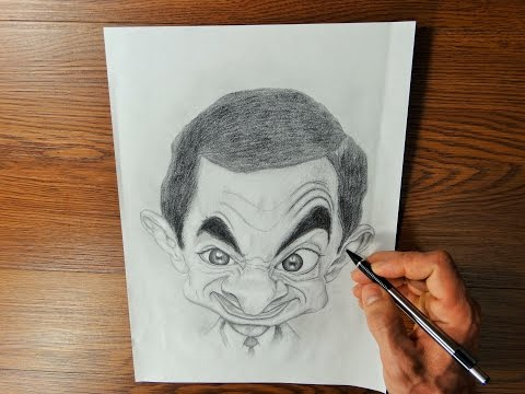 DRAWING CARICATURE. Time Lapse Drawing Video