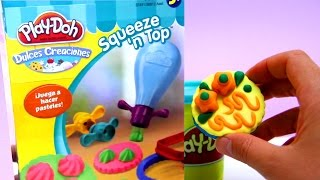 Play Doh squeeze n top cakes play dough playset