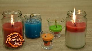 Praktična žena - Uradi sam - mirišljave sveće