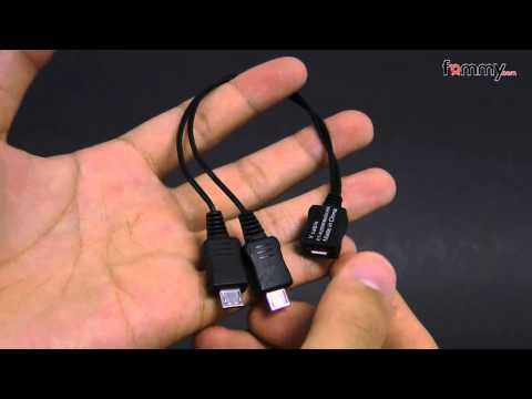 Samsung� (OEM) Micro-USB Dual Male Y Adapter